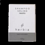 Shampoo Sólido Neutro Sem Aroma - Todos os Tipos de Cabelos - Herbia