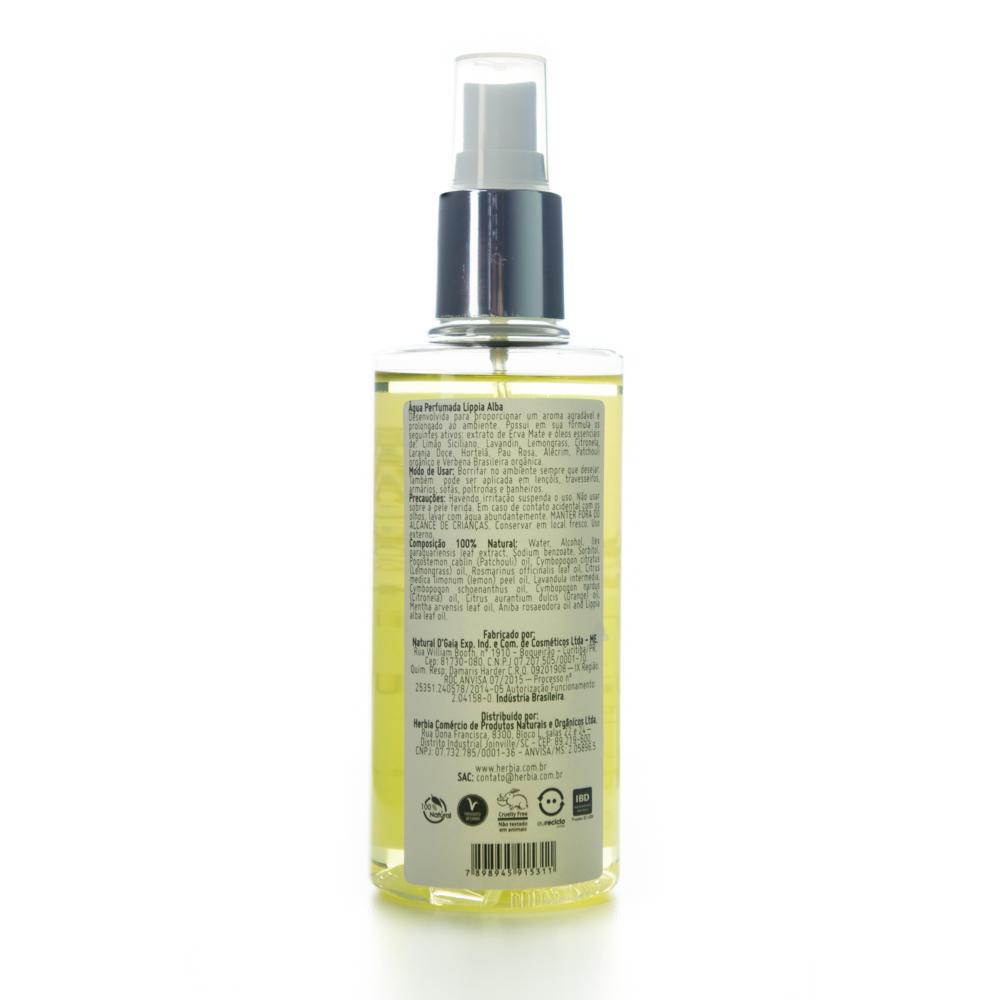Água Perfumada Natural Para Tecidos e Ambientes - Lippia Alba - Herbia  - Verdê Cosméticos