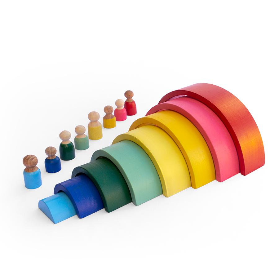 Arco-íris e Pessoas - Lume Brinquedos  - Loja da Verdê