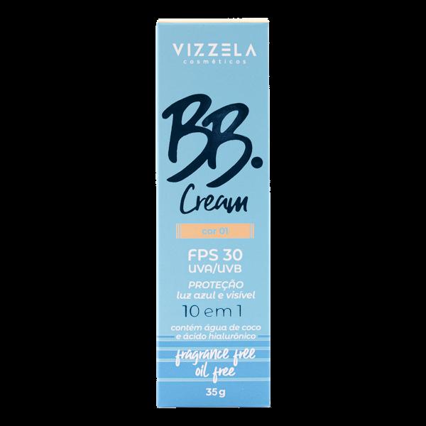BB Cream Vegano FPS30 - cor 01- Vizzela  - Verdê Cosméticos
