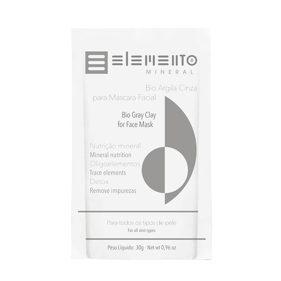 Bio Argila Cinza - Todo Tipo de Pele - Elemento Mineral  - Loja da Verdê