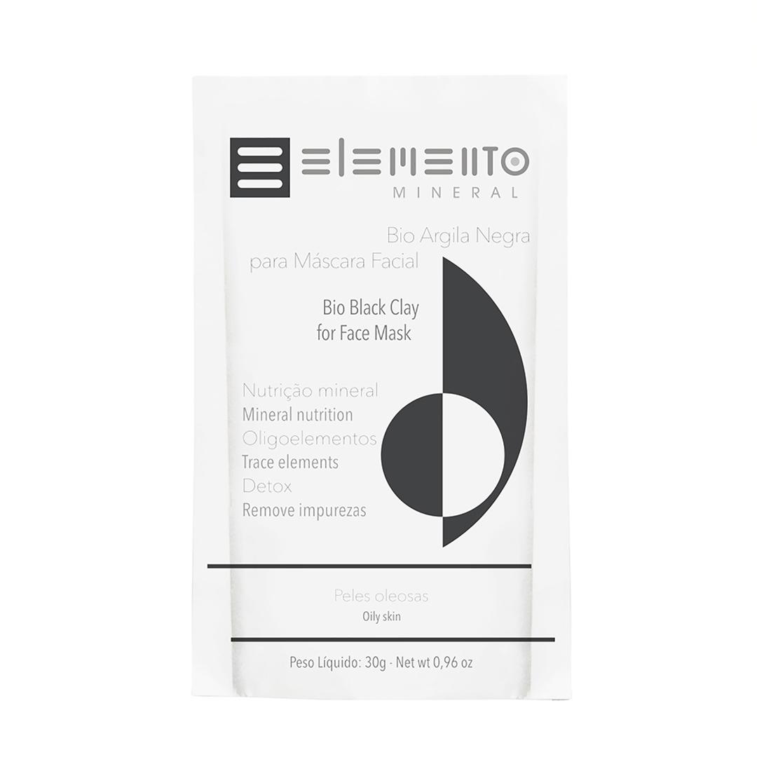 Bio Argila Negra - Pele Oleosa - Elemento Mineral  - Verdê Cosméticos
