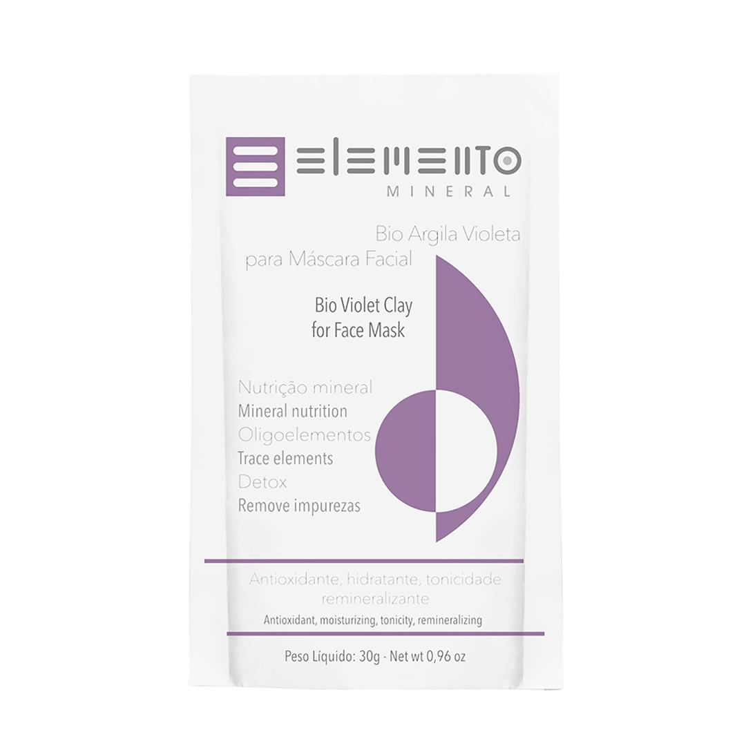 Bio Argila Violeta - Pele Madura - Elemento Mineral  - Loja da Verdê