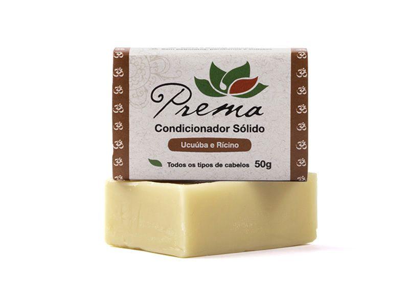 Condicionador Sólido Ucuúba e Rícino - todos os tipos de cabelo - Prema  - Verdê Cosméticos