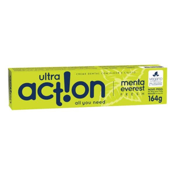 Creme Dental Vegano Anticárie - Menta Everest - Ultra Action  - Verdê Cosméticos