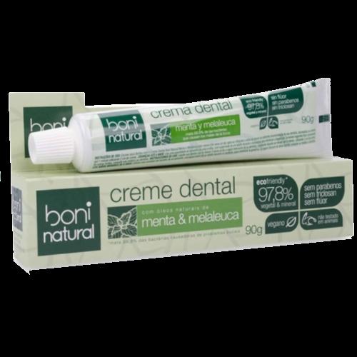 Creme Dental Vegano - Melaleuca e Melaleuca  - Boni Natural  - Verdê Cosméticos