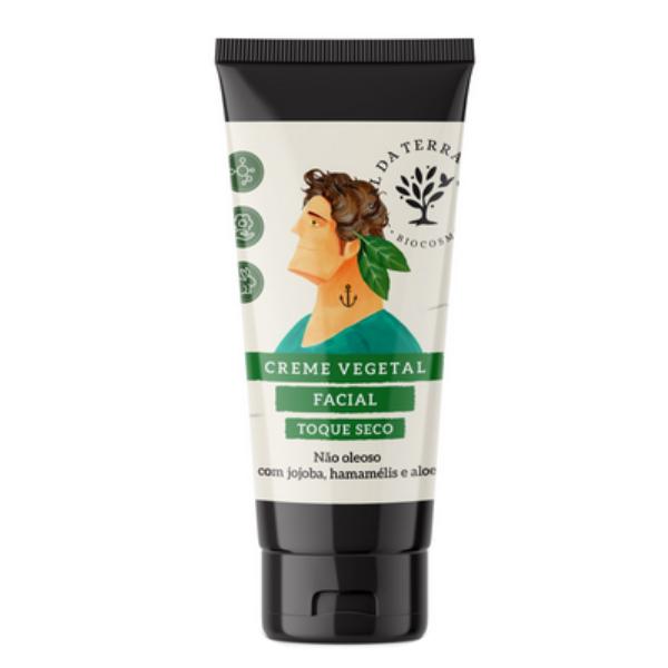 Creme Facial Vegano Masculino - Jojoba Hamamelis e Aloe - Sal da Terra  - Loja da Verdê