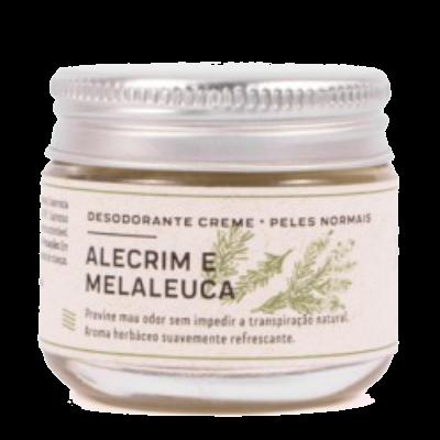Desodorante Creme Natural Alecrim e Melaleuca - peles normais - Prema  - Loja da Verdê