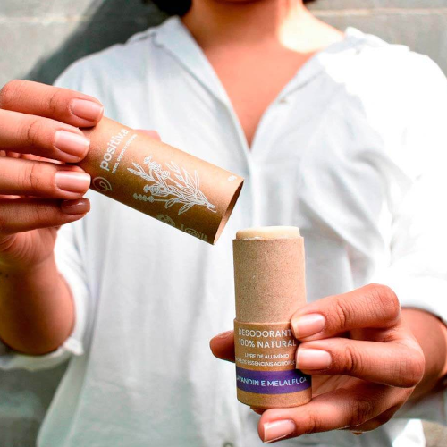 Desodorante em Barra Vegano e 100% Natural - Lavanda e Melaleuca - Positiva  - Loja da Verdê