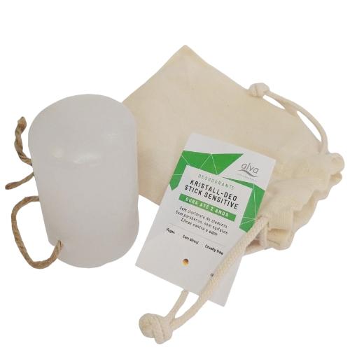 Desodorante Natural Vegano Kristall Stick - 120g - Alva  - Loja da Verdê