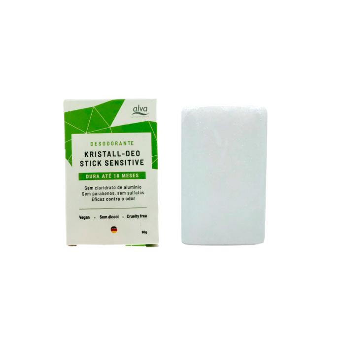 Desodorante Natural Vegano Kristall Stone - Refil 90g - Alva  - Verdê Cosméticos
