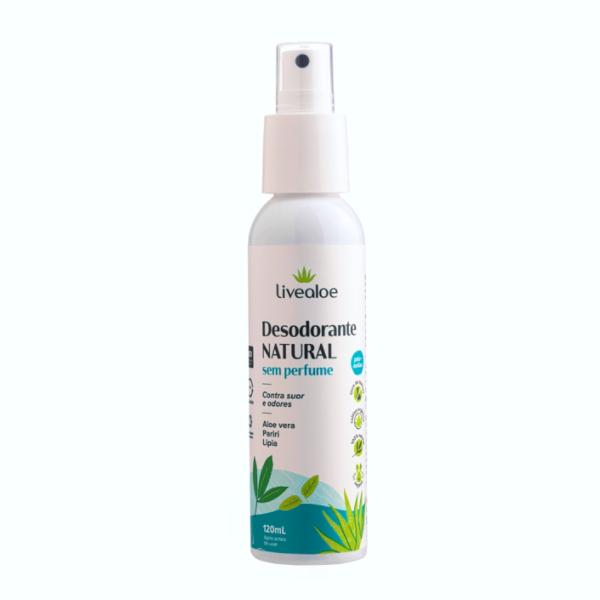 Desodorante Spray Natural Vegano  - Sem Perfume - Livealoe  - Loja da Verdê