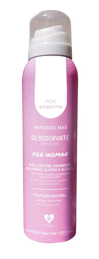 Desodorante Vegano Aerosol Sem Alumínio - Feminino - Biozenthi  - Verdê Cosméticos