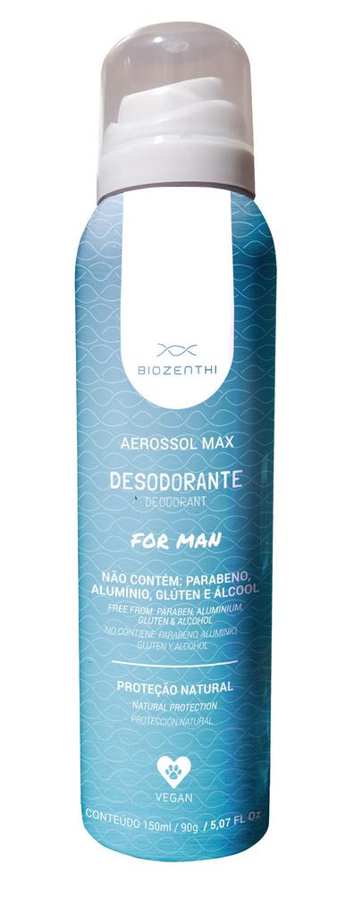 Desodorante Vegano Aerosol Sem Alumínio - Masculino - Biozenthi  - Verdê Cosméticos
