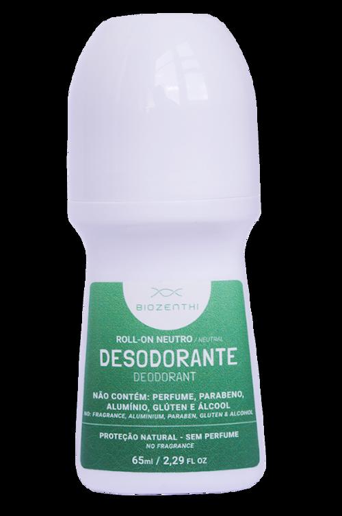 Desodorante Vegano Roll-on Sem Alumínio - Neutro - Biozenthi  - Verdê Cosméticos