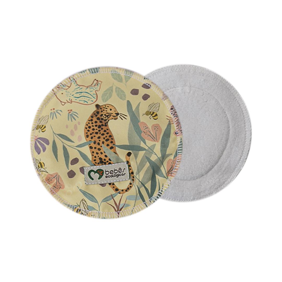 Disco Absorvente de Algodão - Floresta - Bebês Ecológicos  - Loja da Verdê