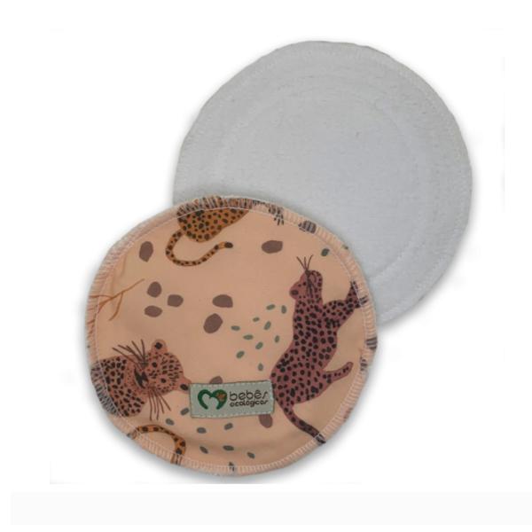 Disco Absorvente de Algodão - Onça Pintada - Bebês Ecológicos  - Loja da Verdê