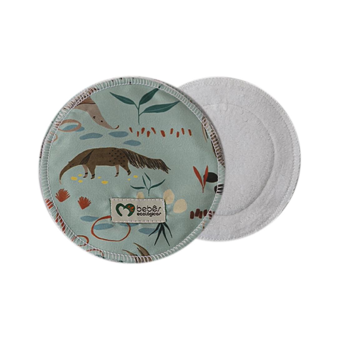 Disco Absorvente de Algodão - Tamanduá - Bebês Ecológicos  - Loja da Verdê