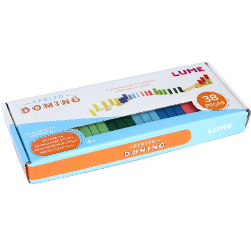 Efeito Dominó - 38 peças - Lume Brinquedos  - Loja da Verdê