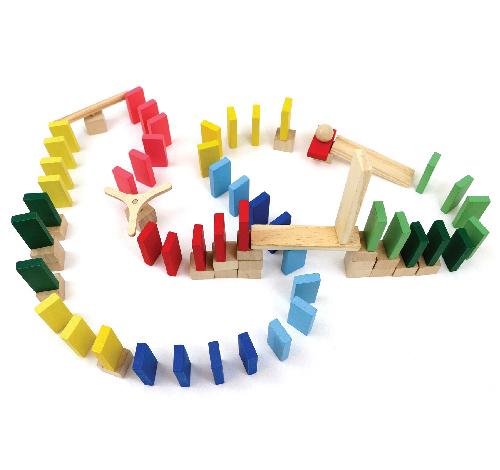 Efeito Dominó Master - 76 peças - Lume Brinquedos  - Loja da Verdê