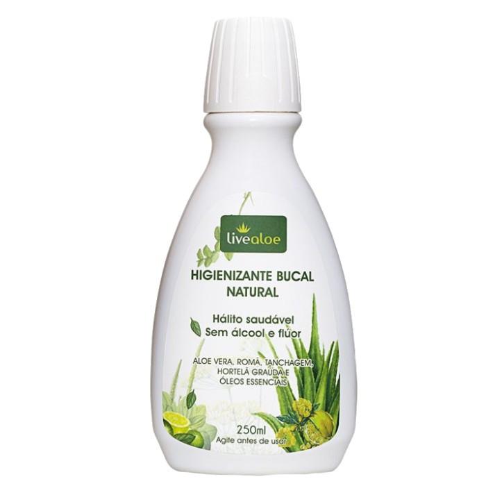 Enxaguante e Higienizante Bucal Natural - 250mL - Livealoe  - Loja da Verdê