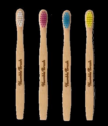 Escova Dental Intantil Biodegradável - várias cores - The Humble Co.  - Loja da Verdê