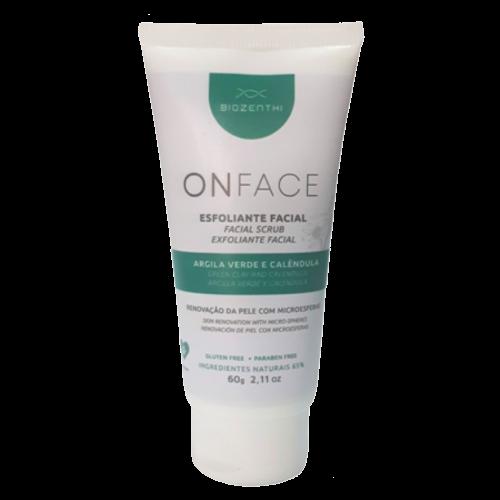Esfoliante Facial Vegano Onface - Argila Verde e Calêndula - Biozenthi  - Loja da Verdê