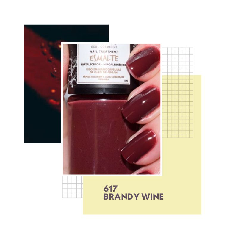 Esmalte Vegano Hipoalergênico - Brandy Wine - Twoone Onetwo  - Verdê Cosméticos