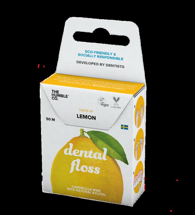 Fio Dental Natural Orgânico - Limão - The Humble Co.  - Verdê Cosméticos