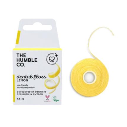 Fio Dental Natural Orgânico - Limão - The Humble Co.  - Loja da Verdê