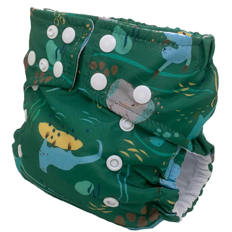 Fralda Ecológica Ajustável por Botões - Ariranha - Bebês Ecológicos  - Loja da Verdê