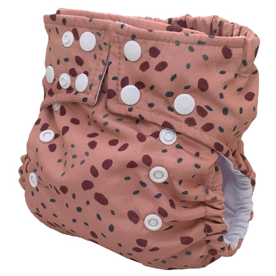 Fralda Ecológica Ajustável por Botões - Pintinhas da Onça - Bebês Ecológicos  - Loja da Verdê