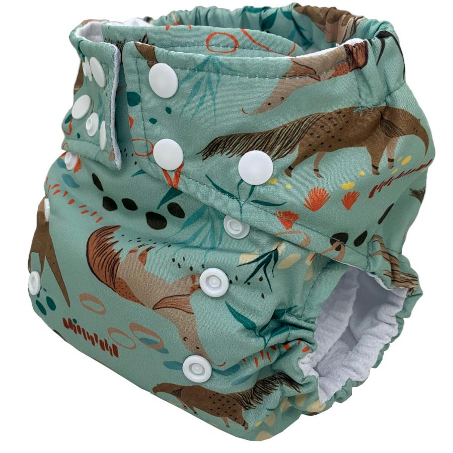 Fralda Ecológica Ajustável por Botões - Tamanduá - Bebês Ecológicos  - Loja da Verdê