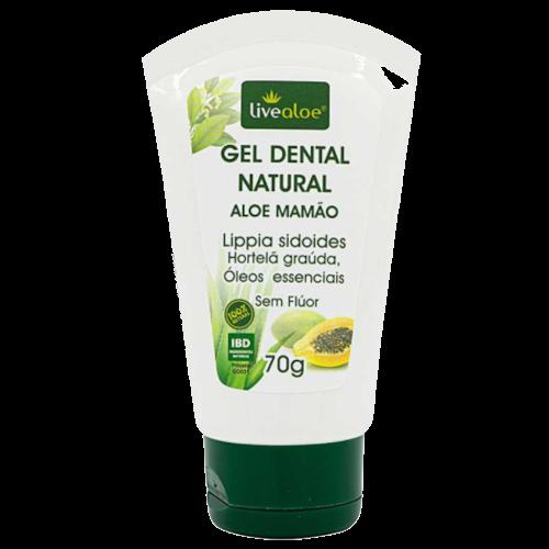 Gel dental natural vegano Aloe e Mamão - Livealoe  - Verdê Cosméticos