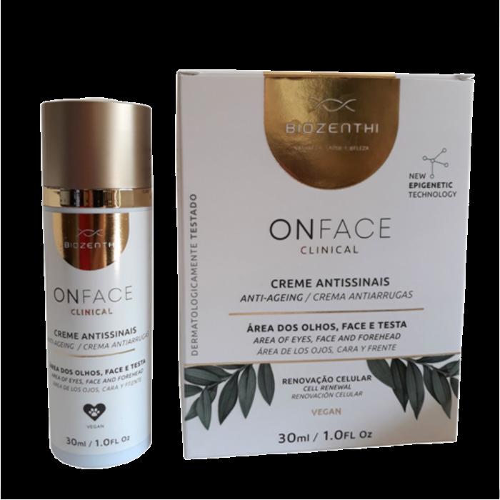 Hidratante Facial Onface Clinical - Antissinais - Biozenthi  - Loja da Verdê