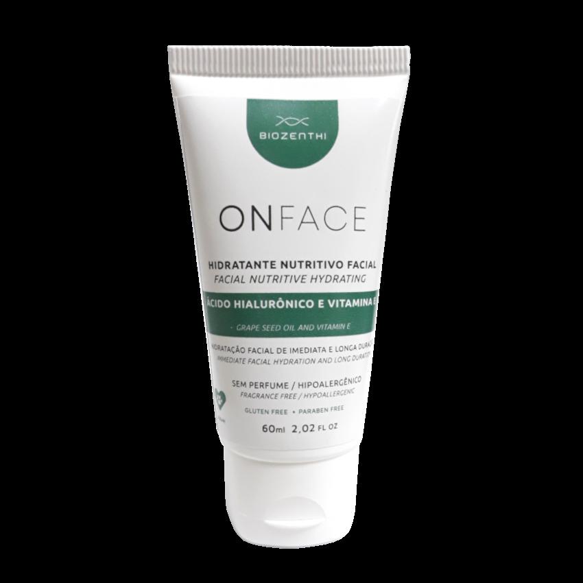 Hidratante Facial Vegano Onface - Ácido Hialurônico e Vitamina E - Biozenthi  - Loja da Verdê