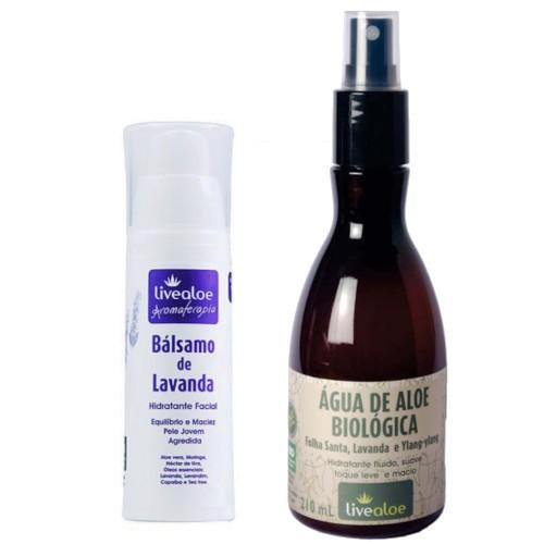 Kit Hidratante e Tônico Facial Natural - pele oleosa - Livealoe   - Verdê Cosméticos