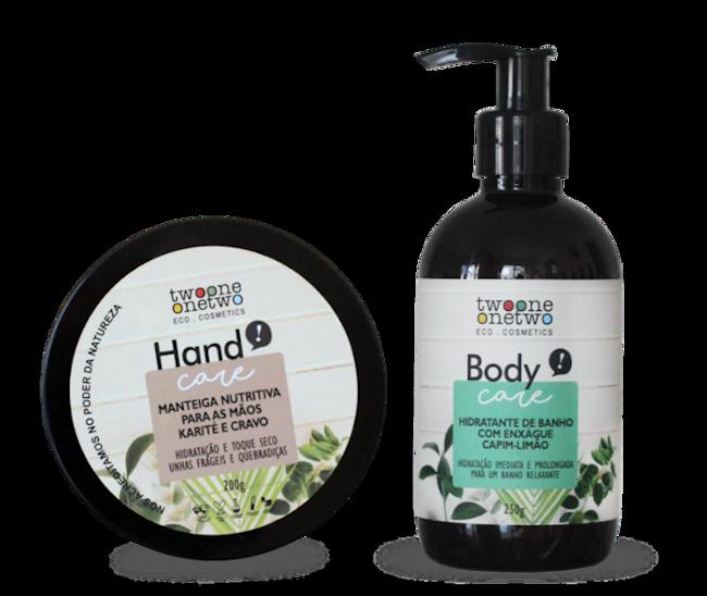Kit Inverno - Manteiga Para as Mãos e Hidratante de Banho - Vegano e Natural  - Verdê Cosméticos