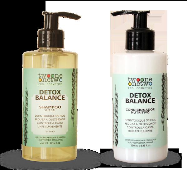 Kit Shampoo e Condicionador Vegano Detox Balance - cabelo oleoso - Twoone Onetwo  - Verdê Cosméticos