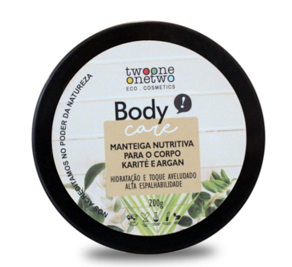 Manteiga Nutritiva Vegana para Corpo - Karité e Argan - Twoone Onetwo  - Loja da Verdê