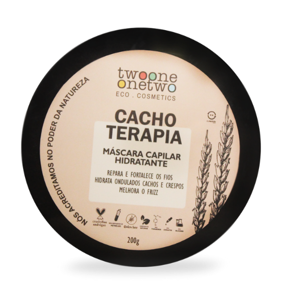 Máscara Capilar Vegana Cacho Terapia - Cabelo Cacheado - Twoone Onetwo  - Verdê Cosméticos