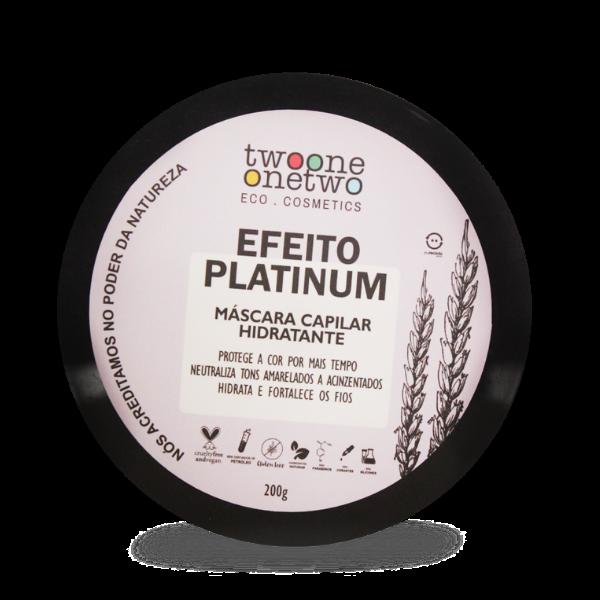Máscara Capilar Vegana Efeito Platinum - Cabelos Loiros ou Grisalhos - Twoone Onetwo  - Verdê Cosméticos