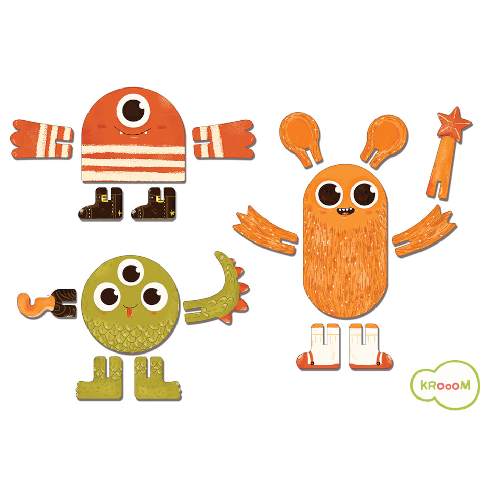 Personagem 3D - Monstros - Krooom  - Loja da Verdê