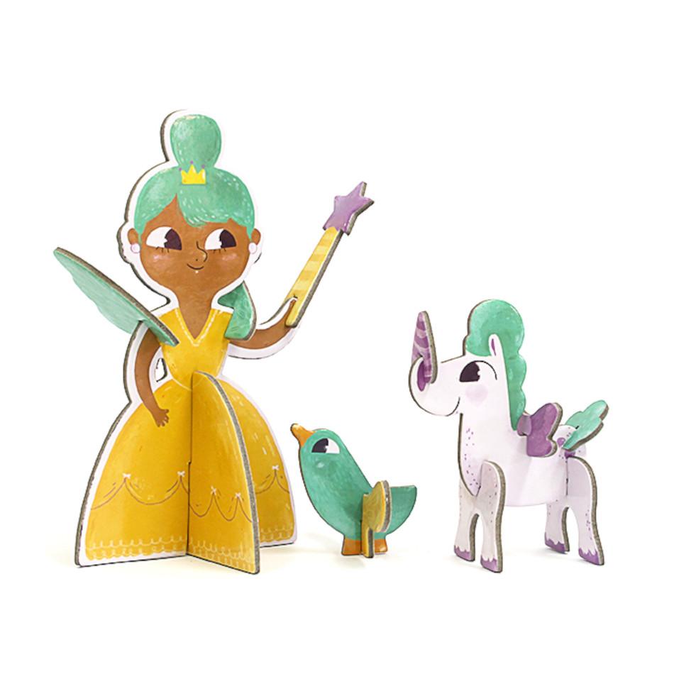 Personagem 3D - Princesa - Krooom  - Loja da Verdê