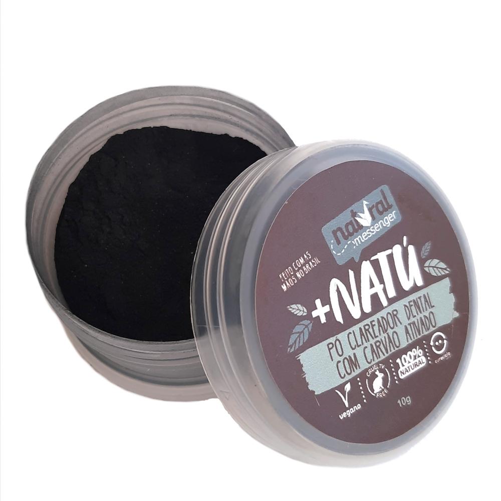 Pó Clareador Dental Natural Vegano - Carvão Ativado - Natural Messenger  - Verdê Cosméticos