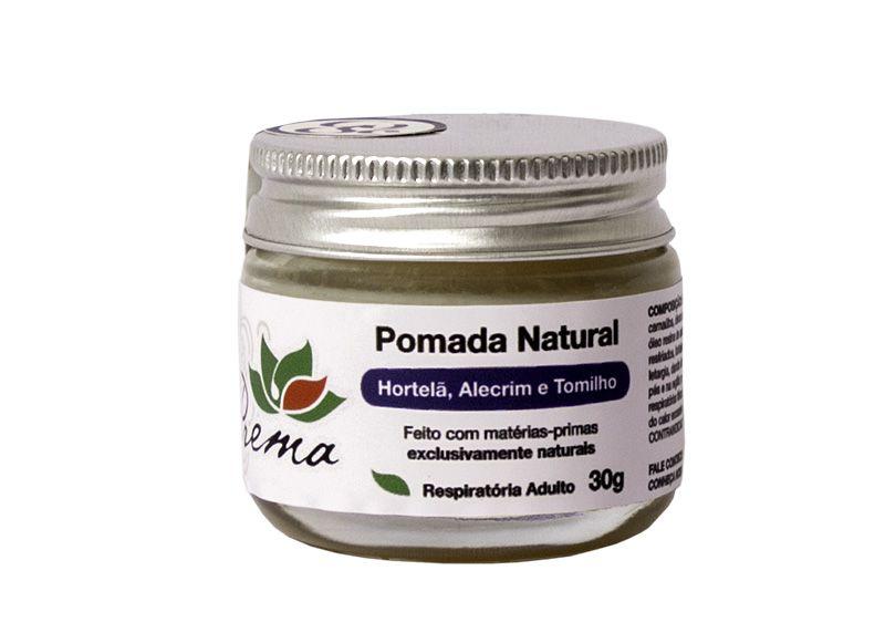 Pomada Natural Hortelã, Alecrim e Tomilho - Respiratória - Prema  - Verdê Cosméticos