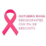 Outubro Rosa: desodorante sem alumínio