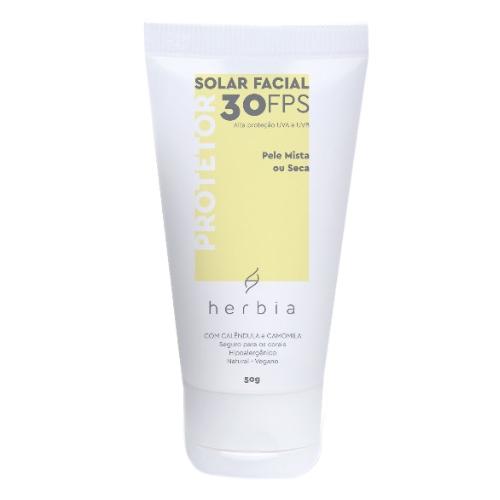 Protetor Solar Facial Natural e Vegano - pele mista ou seca - Herbia  - Loja da Verdê