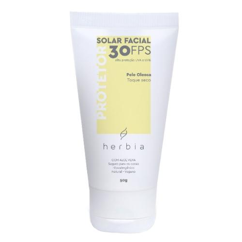 Protetor Solar Facial Natural e Vegano - pele oleosa - Herbia  - Loja da Verdê