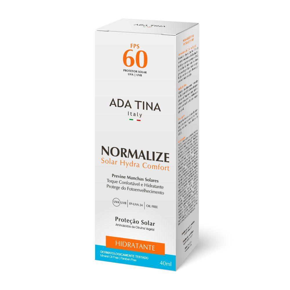 Protetor Solar Vegano Normalize Solar Hydra Comfort FPS 60 Ada Tina - pele normal a seca  - Verdê Cosméticos